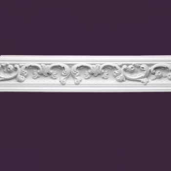 <PRE>Cornice White Urethane 4 7/8inch H Gilson Ornate </PRE>zoom2