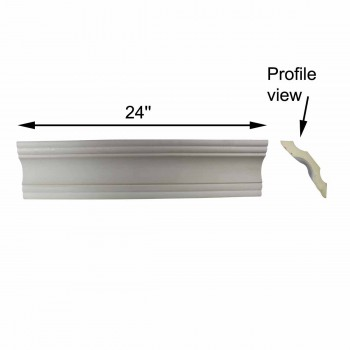 "spec-<PRE>Cornice White Urethane Sample of 11457 24"" Long </PRE>"