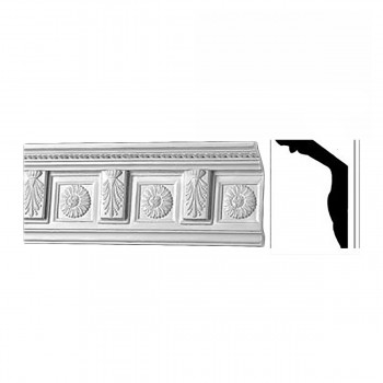 <PRE>Cornice White Urethane Sample of 10493 18inch Long </PRE>zoom1
