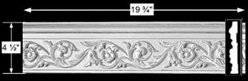 "spec-<PRE>Cornice White Urethane Sample of 1050119.75"" Long </PRE>"
