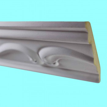 <PRE>Cornice White Urethane Sample of 10512 19.75inch Long </PRE>zoom2