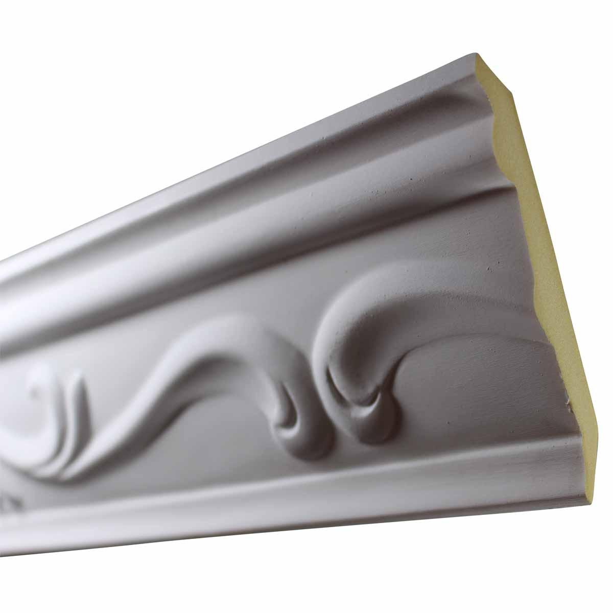 Cornice White Urethane Sample of 10512 19.75 Long Cornice Cornice Moulding Cornice Molding