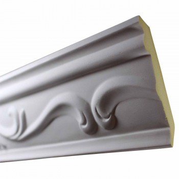 <PRE>Cornice White Urethane Sample of 10512 19.75inch Long </PRE>zoom3