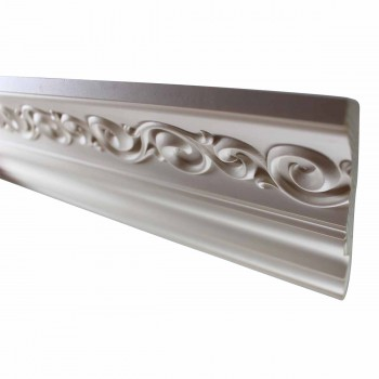 <PRE>Cornice White Urethane Sample of 10978 23.5inch Long </PRE>zoom1