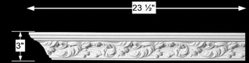 spec-<PRE>Cornice White Urethane Sample of 10997 23.5&quot; Long </PRE>