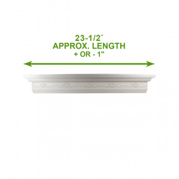 spec-<PRE>Cornice White Urethane Sample of 11169 23.5&quot; Long </PRE>