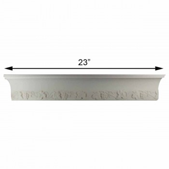 "spec-<PRE>Cornice White Urethane Sample of 11175 23.5"" Long </PRE>"