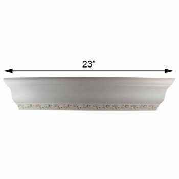 spec-<PRE>Cornice White Urethane Sample of 11179 23.5&quot; Long </PRE>