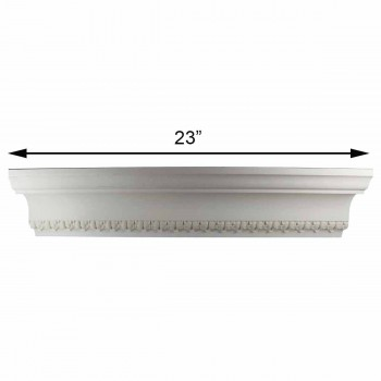 spec-<PRE>Cornice White Urethane Sample of 11182 23.5&quot; Long </PRE>