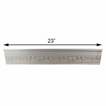 spec-<PRE>Cornice White Urethane Sample of 11187 23.5&quot; Long </PRE>
