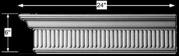 spec-<PRE>Cornice White Urethane 24&quot; Sample of 11198 </PRE>