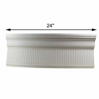"spec-<PRE>Cornice White Urethane 24"" Sample of 11199 </PRE>"