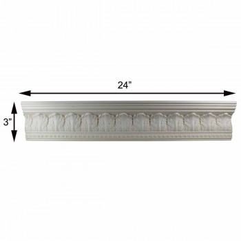 "spec-<PRE>Cornice White Urethane 24"" Sample of 11353 </PRE>"