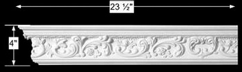 spec-<PRE>Cornice White Urethane Sample of 11362 23.5&quot; Long </PRE>