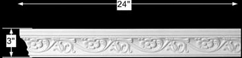 "spec-<PRE>Cornice White Urethane Sample of 11365 24"" Long </PRE>"