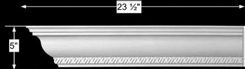 "spec-<PRE>Cornice White Urethane Sample of 11367 23.5"" Long </PRE>"