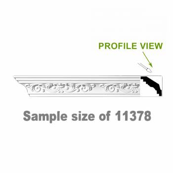 <PRE>Cornice Whtie Urethane 23.5inch Sample of 11378 </PRE>zoom1