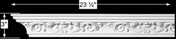 "spec-<PRE>Cornice Whtie Urethane 23.5"" Sample of 11378 </PRE>"