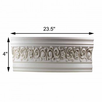"spec-<PRE>Cornice White Urethane 23.5"" Sample of 11385 </PRE>"