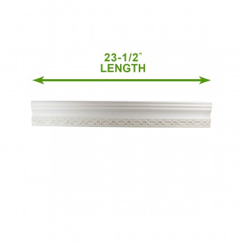 spec-<PRE>Cornice White Urethane Sample of 11392 23.5&quot; Long </PRE>