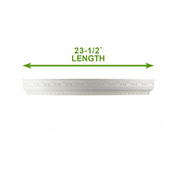 spec-<PRE>Cornice White Urethane Sample of 11397 23.5&quot; Long </PRE>