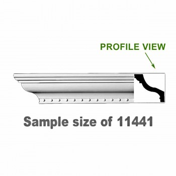 <PRE>Cornice White Urethane 23.5inch Sample of 11441 </PRE>zoom1