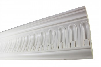 <PRE>Cornice White Urethane Sample of 11443 23.5inch Long </PRE>zoom6