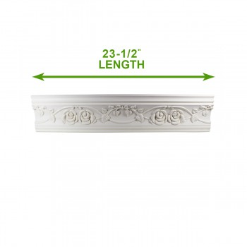 spec-<PRE>Cornice White Urethane 23.5&quot; Sample of 11446 </PRE>