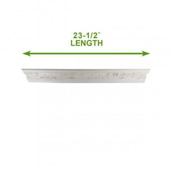 spec-<PRE>Cornice White Urethane Sample of 11451 23.5&quot; Long </PRE>