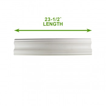 spec-<PRE>Cornice White Urethane Sample of 11463 23.5&quot; Long </PRE>