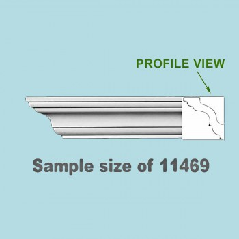 <PRE>Cornice White Urethane 23.5inch Sample of 11469 </PRE>zoom2