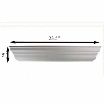 "spec-<PRE>Cornice White Urethane Sample of 11481 23.5"" Long </PRE>"