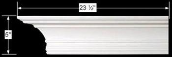 """spec-<PRE>Cornice White Urethane 23.5"""" Sample of 11500 </PRE>"""