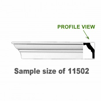 <PRE>Cornice White Urethane 23.5inch Sample of 11502 </PRE>zoom1