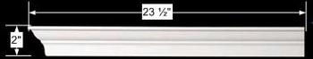 """spec-<PRE>Cornice White Urethane 23.5"""" Sample of 11502 </PRE>"""