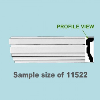 Cornice White Urethane Sample of 11522 24 Long Cornice Cornice Moulding Cornice Molding