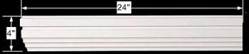 spec-<PRE>Cornice White Urethane Sample of 11522 24&quot; Long </PRE>