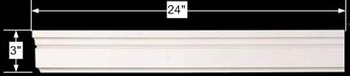 spec-<PRE>Cornice White Urethane Sample of 11528 24&quot; Long </PRE>