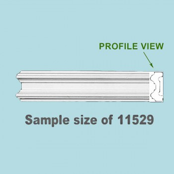 <PRE>Cornice White Urethane 24&quot; Sample of 11529 </PRE>