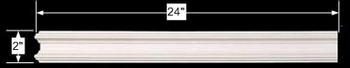 spec-<PRE>Cornice White Urethane 24&quot; Sample of 11529 </PRE>