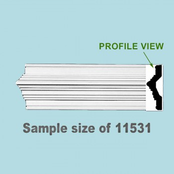 <PRE>Cornice White Urethane 23.75inch Sample of 11531 </PRE>zoom2
