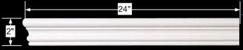 spec-<PRE>Cornice White Urethane Sample of 11545 24&quot; Long </PRE>