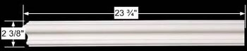 "spec-<PRE>Cornice White Urethane 23.75"" Sample of 11567 </PRE>"