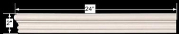 "spec-<PRE>Cornice White Urethane Sample of 11570 24"" Long </PRE>"