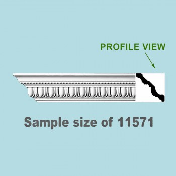 <PRE>Cornice White Urethane 24inch Sample of 11571 </PRE>zoom2