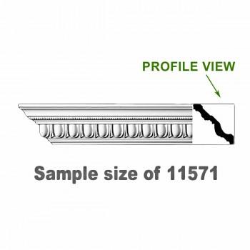 <PRE>Cornice White Urethane 24inch Sample of 11571 </PRE>zoom1