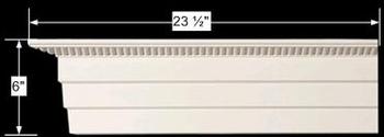 "spec-<PRE>Cornice White Urethane Sample of 11579 23.5"" Long </PRE>"