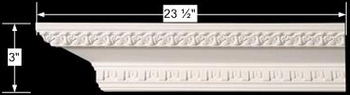 spec-<PRE>Cornice White Urethane Sample of 11581 24&quot; Long </PRE>