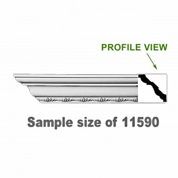 <PRE>Cornice White Urethane 23.5&quot; Sample of 11590 </PRE>