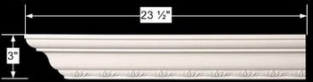 spec-<PRE>Cornice White Urethane 23.5&quot; Sample of 11590 </PRE>